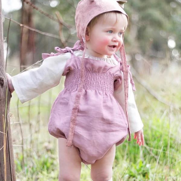 Cotton Belt Rompers Sleeveless Princess Baby Girls Rompers Ruffles Gray Newborn Girls Bodysuits One-piece Lovely Kids Jumpsuits Onesie
