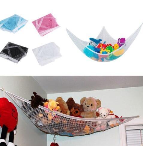 Guardería Organizador de juguetes Colgante blanco Almacenamiento de juguetes Hamaca Red Animales de peluche Muñecas Esquina Juguetes Decoración de la habitación Niños Hamaca para bebés Niños