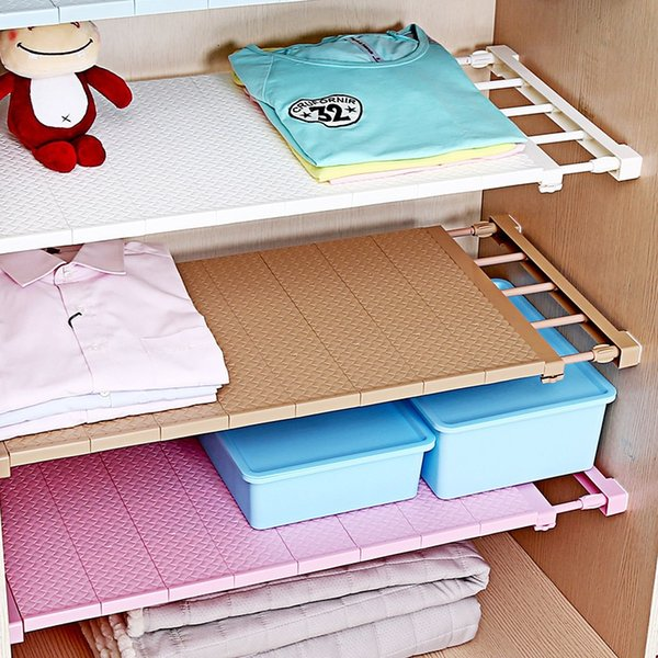 2019 Adjustable Closet Organizer Storage Shelf Wall Mount Kitchen Cabinet  Rack Space Saving Wardrobe Decorative Shelves Cabinet Holders FA2368 From  ...