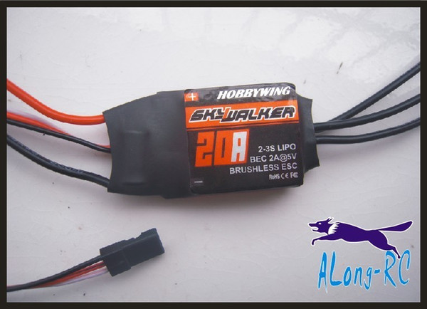 FREE SHIPPING high quality Hobbywing skywalker 20A (2-3s) brushless ESC-for RC airplane model/hobby plane/ spare part