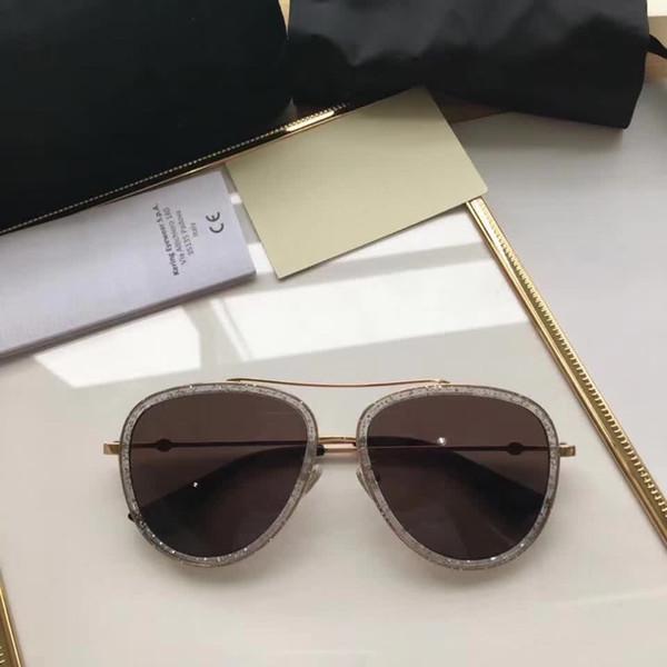 e49480eed61c9 Gucci GG0062 Retro moda modelo estrela óculos de sol revestido homens óculos  de sol espelho transparente