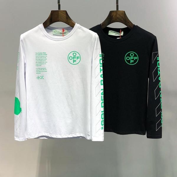 2019 осень и зима новый высококачественный хлопок печатных с длинными рукавами футболки# 5103