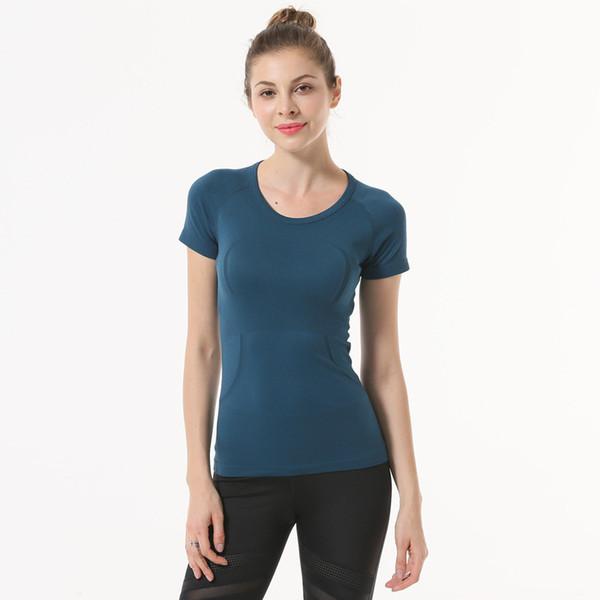 best selling Motion Short Sleeve Woman Speed Do Close Yoga Jacket Gym Run Training T Shirt Bodybuilding Serve Lu Yoga lu sports