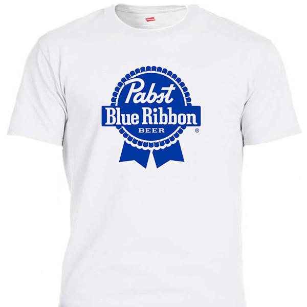 PABST голубая лента, пиво PBR, Белая слоновая кость, футболки смешные бесплатная доставка мужская повседневная футболка топ