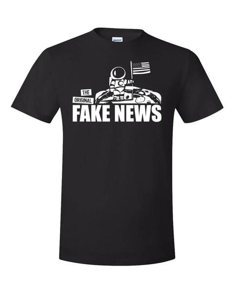 Moon Landing Hoax Shirt NASA Astronaute Espace Drôle Scam USA Faux Nouvelles Truther Classique Qualité Haut style T-shirt Style Rond tshirt