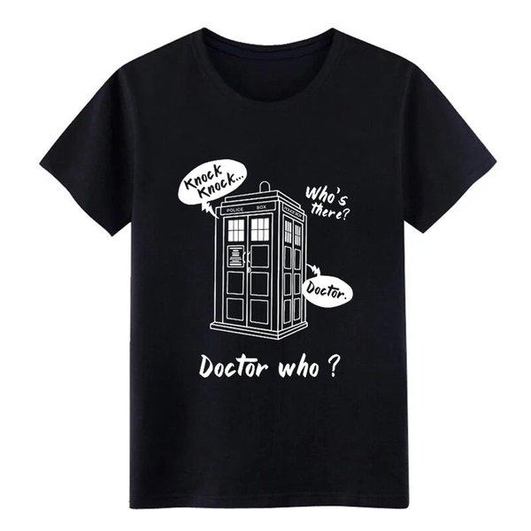 knock knock who s there doctor who diseñador de camisetas 100% algodón cuello redondo color sólido Cute Humor Summer Style Novedad camisa