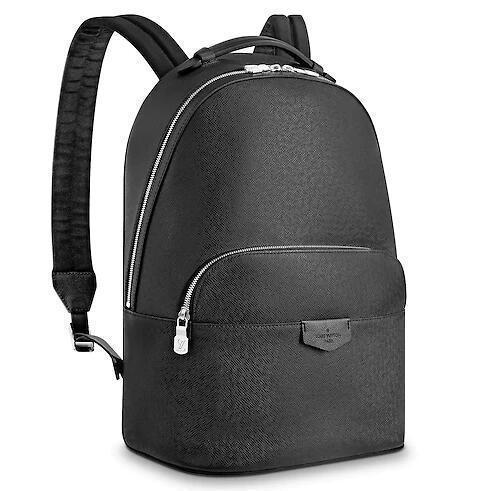 M33425 ANTON BACKPACK MEN BLACK BACKPACKS FASHION SHOWS OXIDIZED LEATHER BUSINESS BAGS HANDBAGS TOTES MESSENGER BAGS