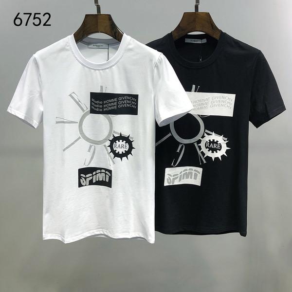 T-shirt dos homens moda casual tamanho tendência M-3XL confortável WSJ014 respirável # 111577 i_lucky07