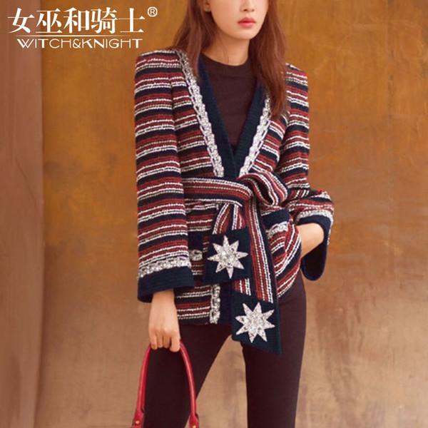 Women's Sweater for 2019 Spring New European Station Loose Belt Knitwear Women's Long-sleeve Cardigan Sweater