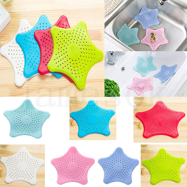 top popular Kitchen Bathroom Sea Star Sucker Filter Sink Drain Stopper Anti-clogged Floor Sewer Outfall Hair Filter Colanders Strainer Supplies DC999 2021