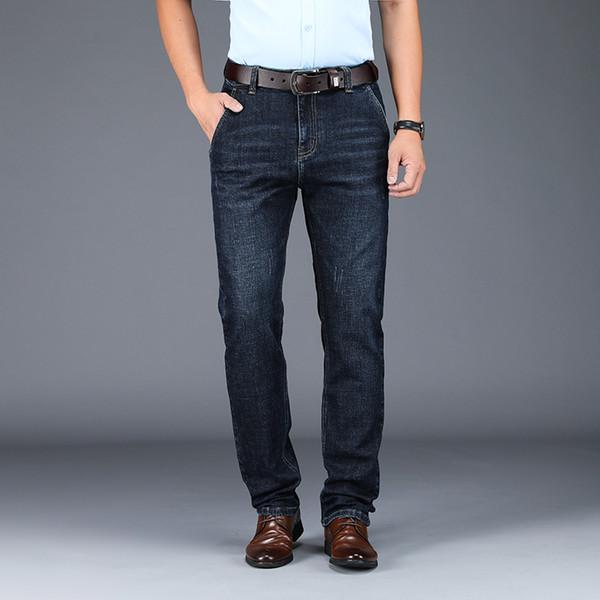 Odinokov Sonbahar Ve WinterJeans Ağır Tam Boy Akıllı Casual Düğme Mavi Jeans Siyah Jeans Denim Streetwear Elbise