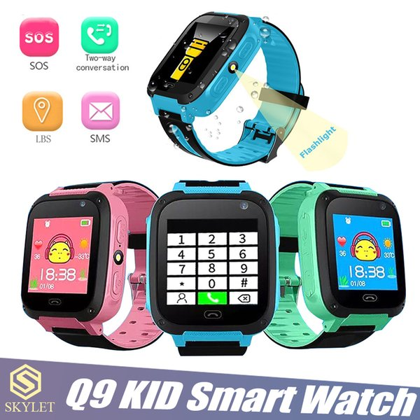 Kid Smart Watch Q9 Smart Bracelet Baby Watch with Remote Camera LBS SOS Safty Watches SIM Card Slot with Retail Box
