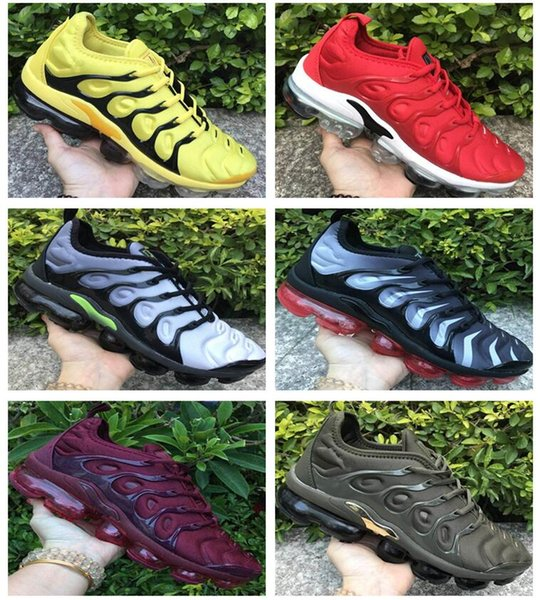 2018 New Mercurial Tn Plus 2 Air Running Shoes Chaussures maxes Orange Mens Womens TNs Sports Designer Outdoors Trainers Sneakers