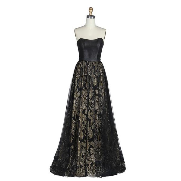 2019 Nuevo vestido de noche Mujeres Tube Tops Off Shoulder Backless Black Mesh Tulle Celebrate Evening Wear Party Wear Sexy Dress