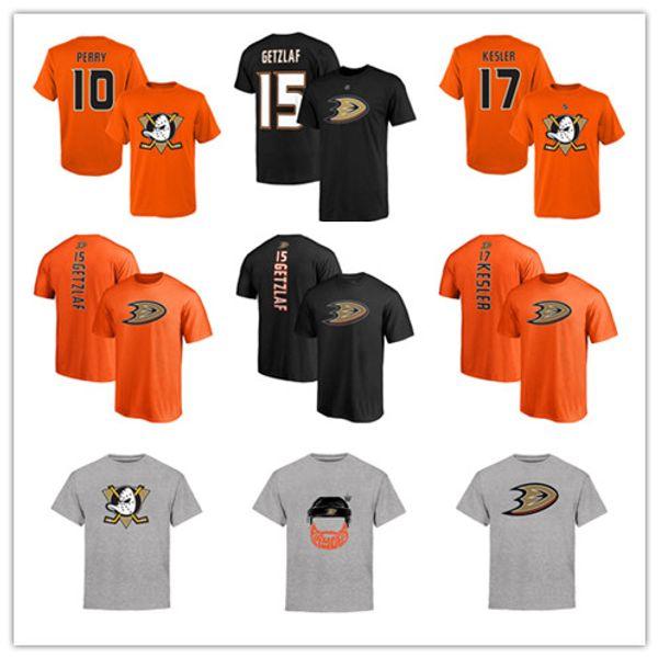 # 15 Ryan Getzlaf # 17 kesler Black Men Anaheim Ducks t-shirt # 10 Perry Sport Jersey Designer Hockey Maglie Fan Top Tee Loghi stampati