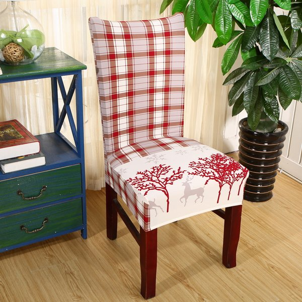 Super 2019 Christmas Decor Dining Room Chair Cover Removable Washable Stretch Seat Cover Universal Size Chair Covers Seat Slipcovers Rent Chair Covers And Short Links Chair Design For Home Short Linksinfo