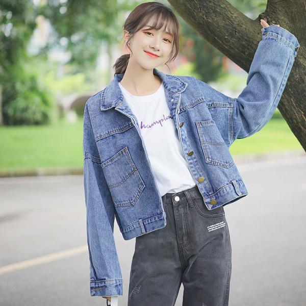 Streetwear Denim Veste Femmes Automne Vêtements Short Jeans Manteau Femme Veste Coréenne Slim Dames Vestes Chaquetas Mujer 2019 1185