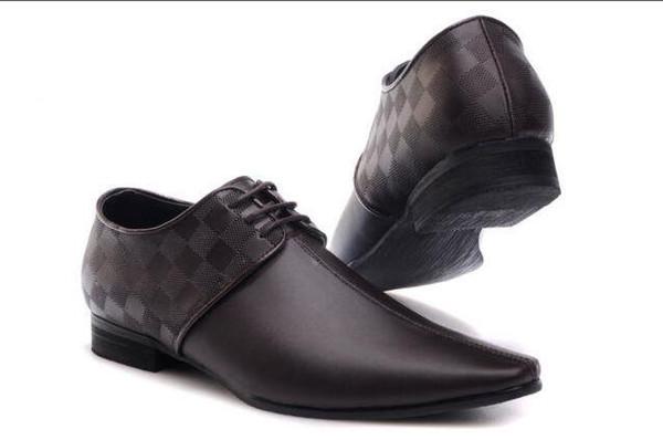 Zapatos de vestir para hombres Zapatos de cuero de moda Pu Marcas para hombres Zapatos Oxford de boda para hombres transpirables Calzado formal Tamaño: 40-47