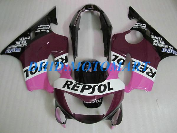 Injection Customized Verkleidungsset für HONDA CBR600F4 99 00 CBR600 F4 1999 2000 CBR 600 F4 600F4 CBR600 lila schwarz Verkleidungsbausatz HP50