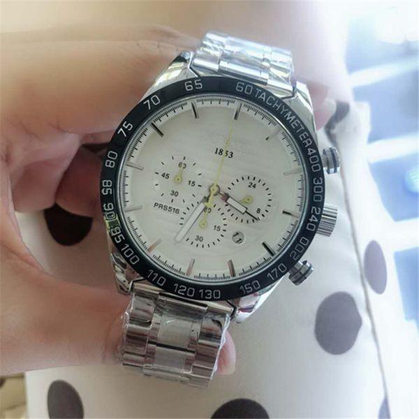 All Work Mens Watches Steel Quartz Wristwatches Stopwatch Luxury TAG Watch Top Brand 1853 for men best Gift Wristwatch Men Dress watch