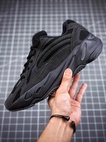 2019 Оптовая 700 V2 Vanta Wave Runner Kanye West Черный 3 М Светоотражающие Кроссовки Мужчины женщины на открытом воздухе спортивная обувь