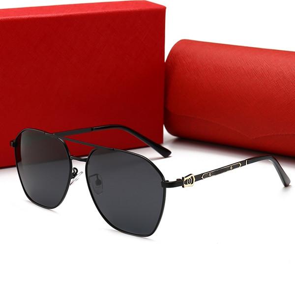 CARTIER 0129 Yeni moda güneş gözlüğü Klasik erkek ve kadın yuvarlak retro ultra hafif güneş gözlüğü Gözlük güneş gözlüğü 100% UV Güneş gözlükleri