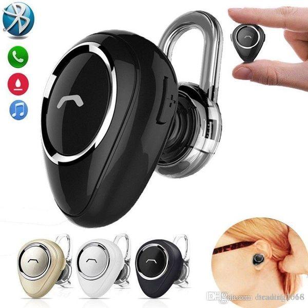 El mini auricular inalámbrico más pequeño del auricular de botón de Bluetooth con el MIC sin manos en teléfono del oído