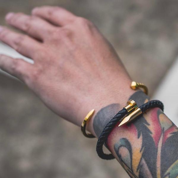 Mcllroy Charms Bracelets 8mm Bracelets En Pierre Naturelle véritable bracelet en cuir noir / marron en cuir bracelet pour hommes Bracelet en cuir 2018 bijoux