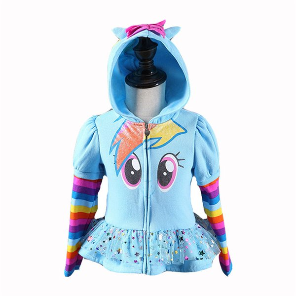 High Quality New Girls little Kids Jacket my Children's Coat Cute Girls Hoodies & Girls Jacket Children Clothing Cartoon