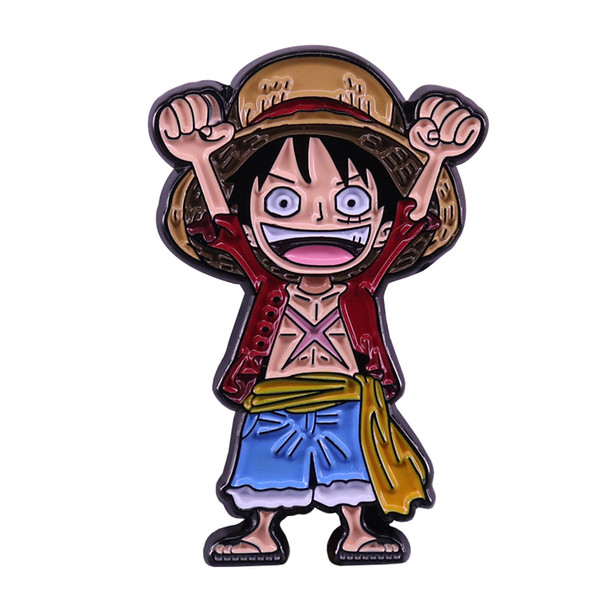 2019 Monkey D Luffy Lapel Pin One Piece Badge Anime Manga Fans Classic Addition From Simida265 1 81 Dhgate Com