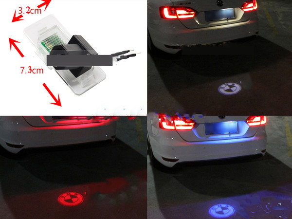 top popular LED License Plate Number Lights Tail Rear Logo Emblem Projector Lamp For BMW 3 5 Series X1 X3 X5 2021
