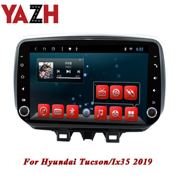 Autoradio YAZH 1 din autoradio pour Hyundai Tucson / Ix35 2019 Android 8.1 Octa Core RAM 2GB ROM 32GB unité centrale 10.1 pouces dvd de voiture