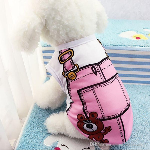 Spring Clothing Puppy Vest Shirts Pet Dog Clothes Hoodies Coats Funny Costumes For Dog Summer Puppy Dog Shirts Clothes