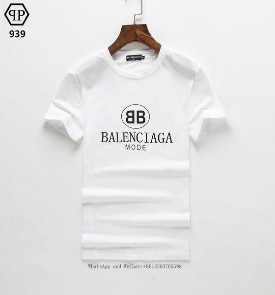 Hombre de manga corta T Camiseta Verano Impresión Tiempo libre Tendencia delgada Algodón puro Hombre Wear0228