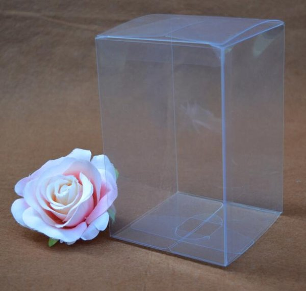 20pcs 7*7*14cm Clear Plastic Packaging Boxes PVC Gift Boxes Craft Jewelry Display Cake Candy Macaron Packing Box