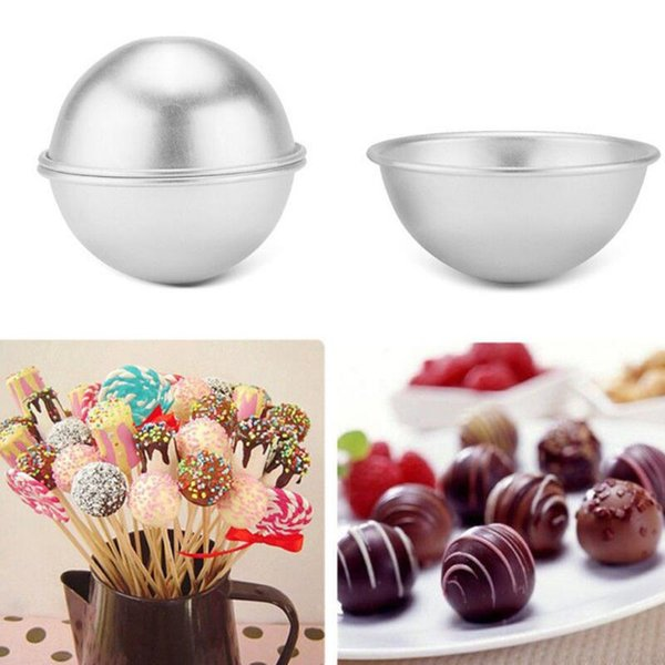 3D Aluminium Alloy Cake Mold Bath Bomb Baking Moulds Roast Ball Mold Own Crafting Handmade 3 Sizes 500pcs LX7778