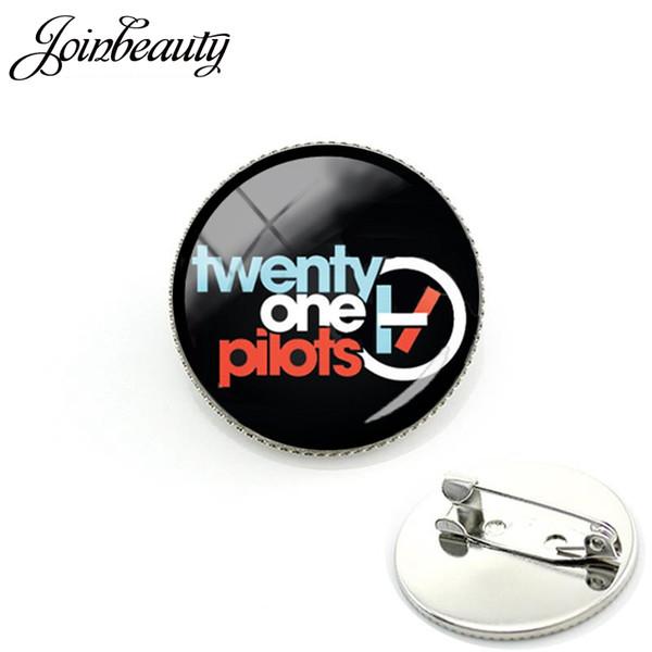 TAFREE Twenty One Pilotos Banda de Música Broche para os fãs de uma oferta especial de aniversário Pinos para como Hip-Pop rodada jóias De Vidro H267