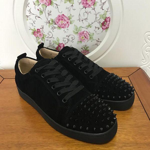 2019 Herren Designer Schuhe Designer Sneakers low cut Spikes Flats Schuhe Red Bottom Für Herren und Damen Leder Sneakers Party Designer Schuhe