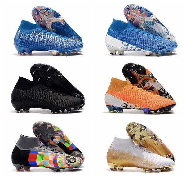 NIKE Los zapatos más nuevos para hombre del fútbol juvenil Mercurial Superfly CR7 V FG Niños fútbol Cristiano Ronaldo Tacos de fútbol 39-45 euros