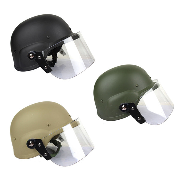 top popular Outdoor Airsoft Shooting Helmet Head Protection Gear M88 Style Helmet Tactical Airsoft ABS Helmet with Goggles NO01-054 2021