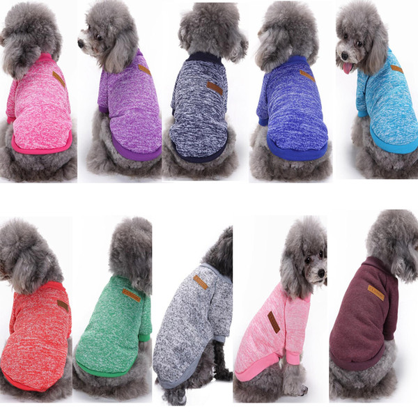 Autumn Winter Pet Dog Sweater for Small Cats Dogs Clothes Sweater shirt Puppy Chihuahua Teddy Warm Shirts Hoodies Clothing Coat Apparel