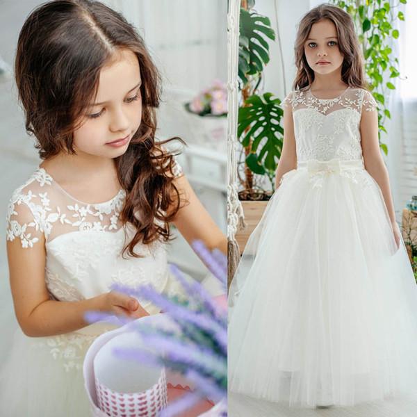 robes de fille de fleur pour mariage longues filles robes de reconstitution historique dentelle robes de princesse enfants robe de soirée enfants vêtements de créateurs filles détail A7342