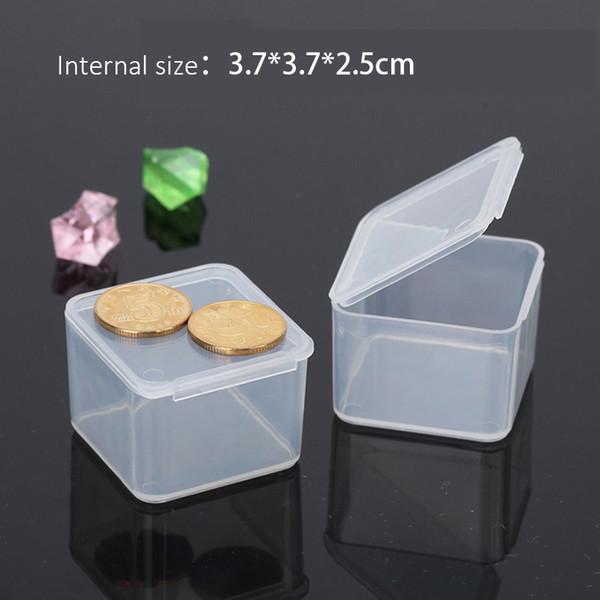 2pcs Transparent Mini Square Storage Plastic Box Storage Small Parts Screw Assembly Jewelry Rhinestone Case Bead