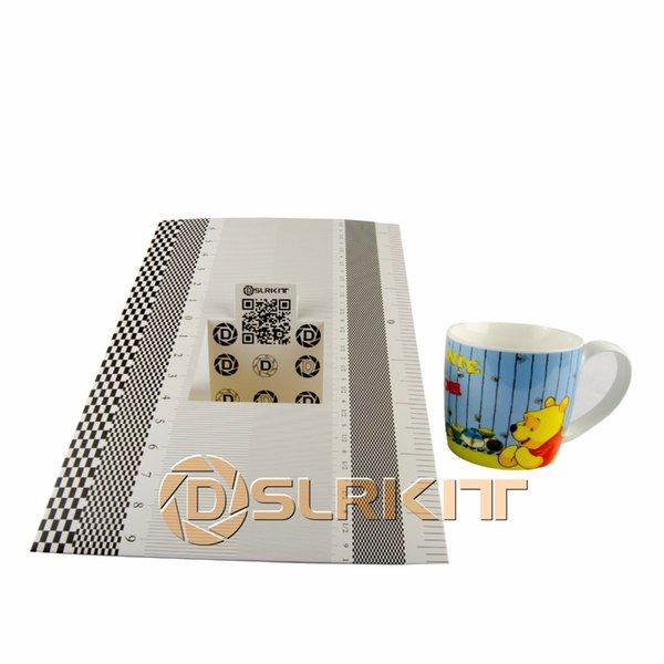 DSLRKIT Lens Focus Calibration Tool Alignment Ruler Folding Card Pack of 6