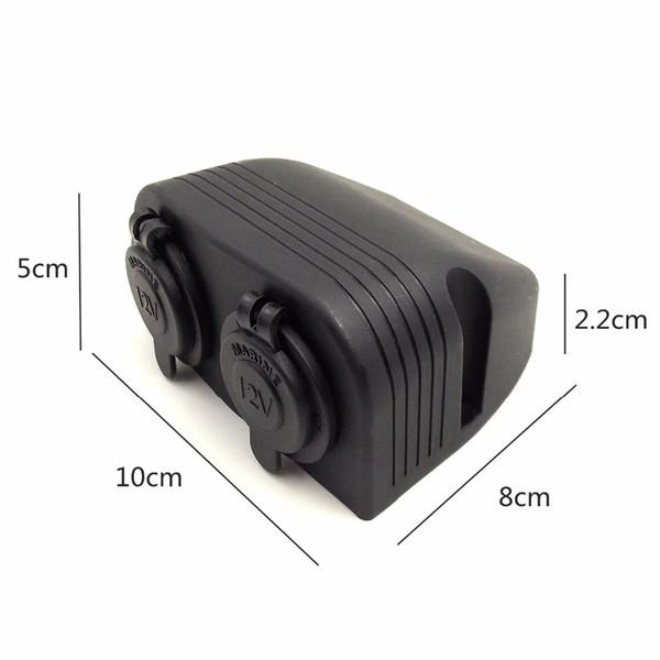 Innensechskantschraube 12 V DIY Modul Panel 5 V 2.1A 2USB Ladegerät, Zigarettenanzünder, Voltmeter für Auto LKW Motorrad Boot