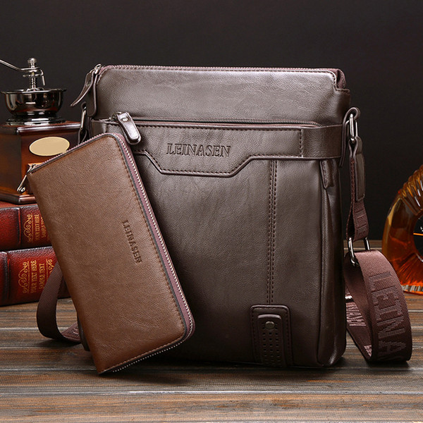 Messenger bag men's crossbody bags for men Top Quality Male Wallet Set Shoulder Bags Drop shipping CSV G0419#10