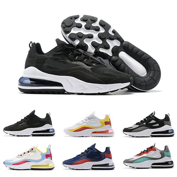 Nike Air Max 270 React Shoes Alta Calidad Nueva Llegada Reaccionar Hombres Zapatillas Bauhaus Optical Diseñador Mens Entrenadores Transpirable