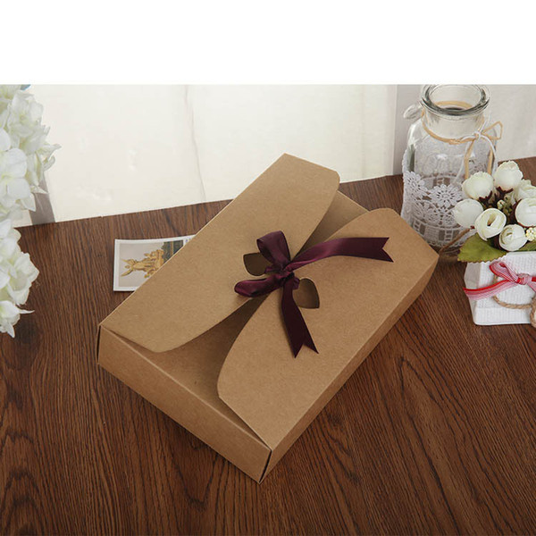 wholesale hot 21.5*14*5cm big size Paper Craft Boxes, underwear packaging gift boxes Sock Packing Box