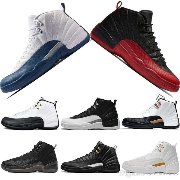 Mens 12s CNY Basketball Shoes Taxi Black White The Master Flu Game Gamma French Blue Playoffs Cheap Sports Trainers Sneakers Size 41-47