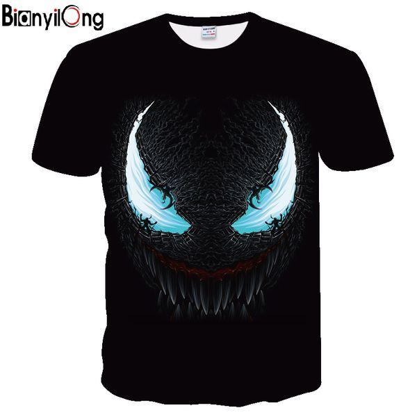 2019 new venom 3d printed t-shirts men casual shirt short sleeve fitness t shirt male weight lifting base layer thumbnail